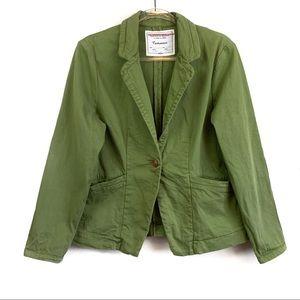 Cartonnier Anthro Green Pockets Kittery Jacket